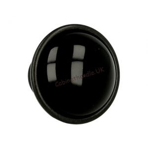ceramic drawer knob black italian