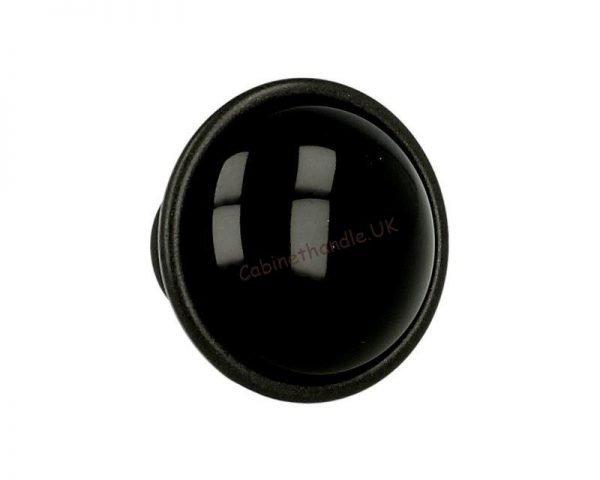 ceramic drawer knob black italian