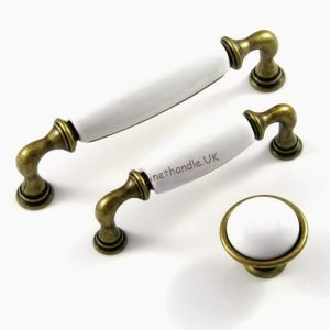 white ceramic handles