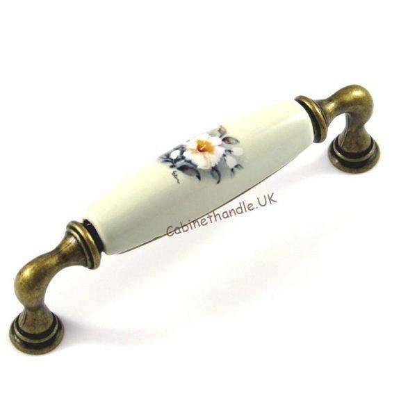 ceramic floral handle italian