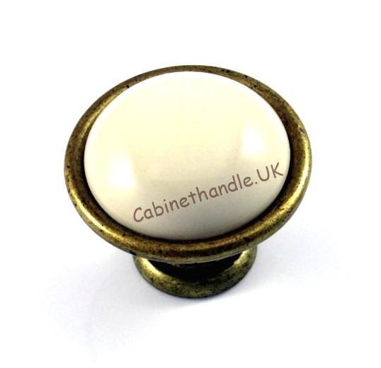 cream ceramic knob