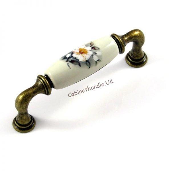 96 mm ceramic floral handle