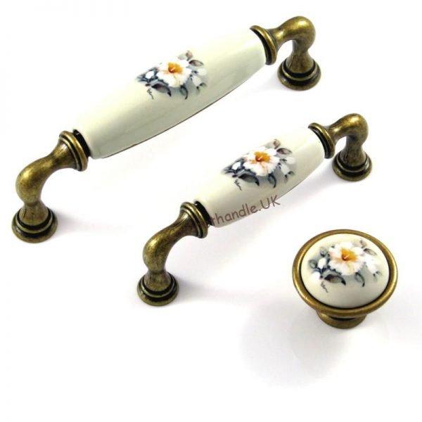 ceramic floral handles