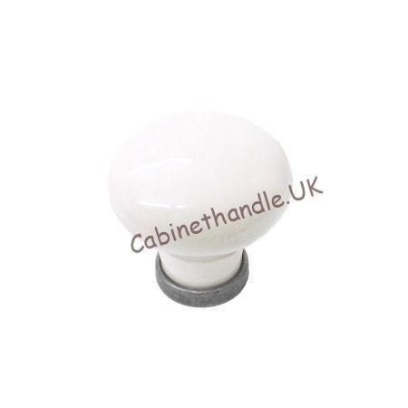 white ceramic kitchen knob
