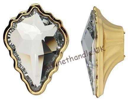 crystal glass decorative knobs