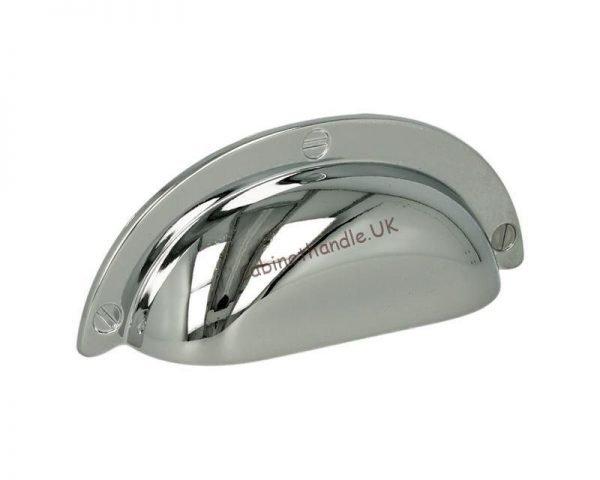 polished chrome cup handle
