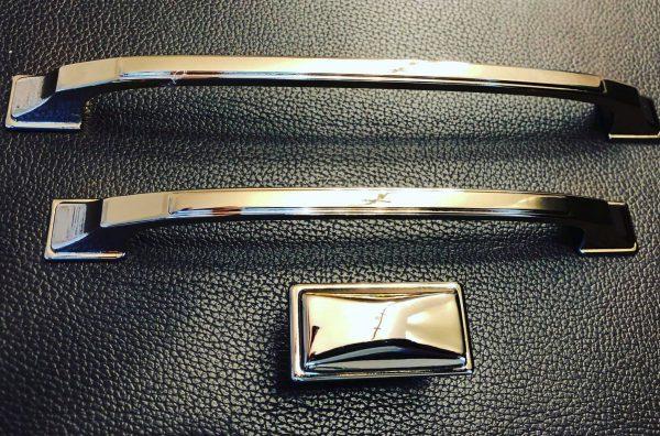 polished chrome kitchen handles