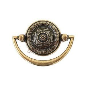 retro style old gold cabinet handle