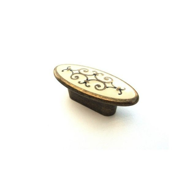 brass cabinet knob in retro style