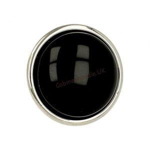 black ceramic knob kitchen
