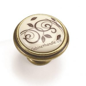 ceramic knob in vintage style by Giusti