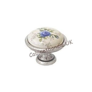 ceramic knob with floral motif