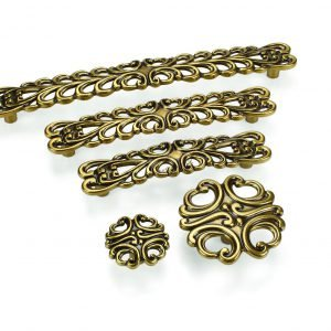 dark gold kitchen handles