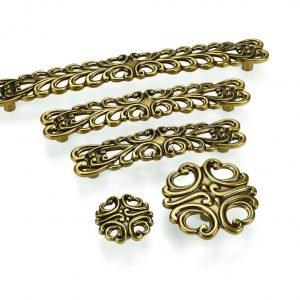 dark gold kitchen handles