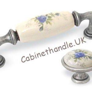 ceramic floral vintage rose handles