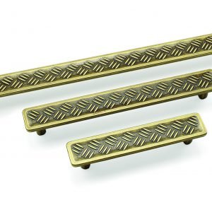 dark gold kitchen handles industrial