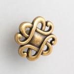 45 mm brass kitchen knob in classic style