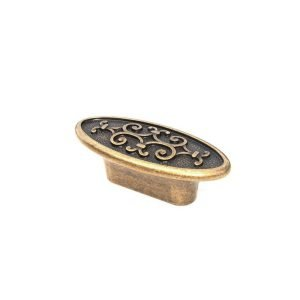 aged brass cabinet knob