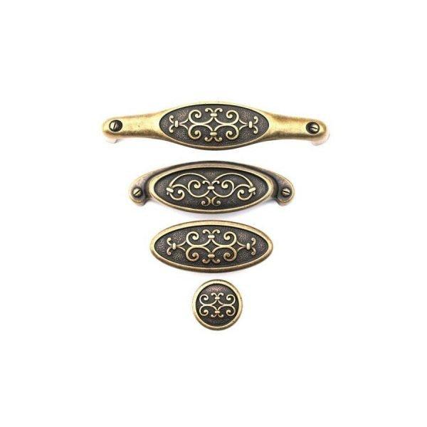 aged brass kitchen handles