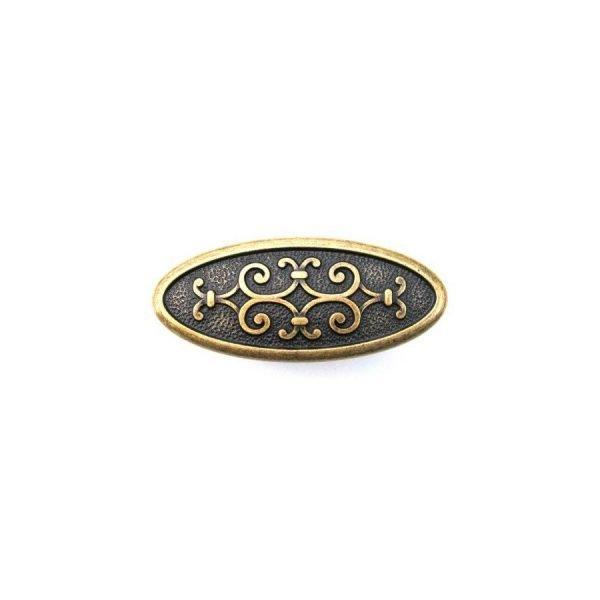 aged brass kitchen knob