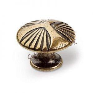 antique gold kitchen drawer knob