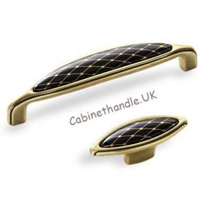 black and gold ceramic kitchen handles