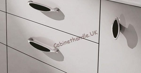 black ceramic cabinet handles