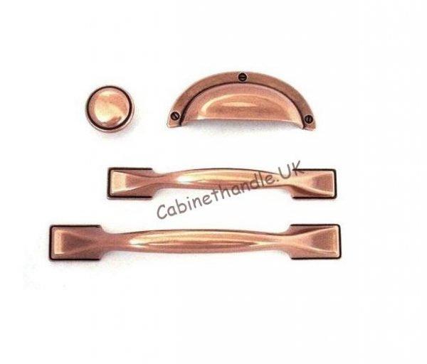brushed copper kitchen handles