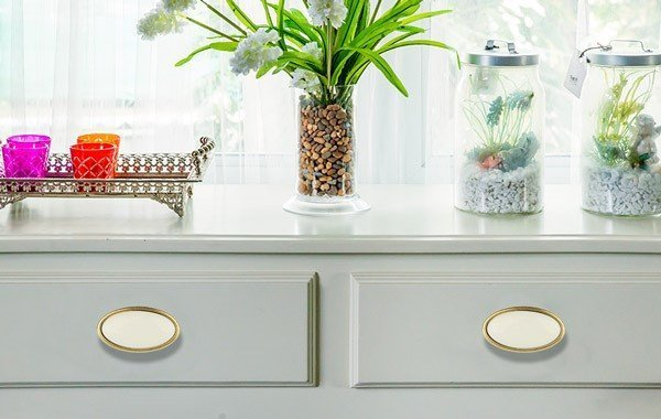ceramic drawer knobs gold with ivory porcelain
