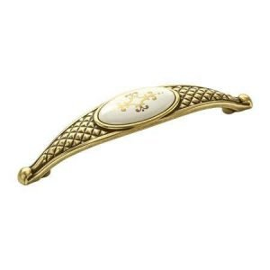 ceramic kitchen handle gold with pattern on ceramic