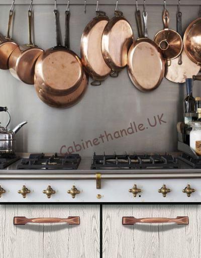 copper kitchen cupboard handles