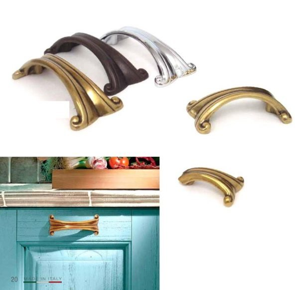 gold and chrome kitchen handles