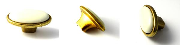 gold ceramic oval knobs