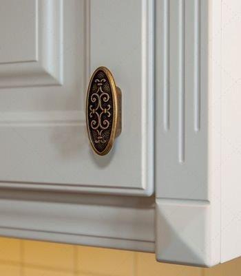 old brass kitchen door handle