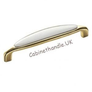old gold ceramic cupboard handle