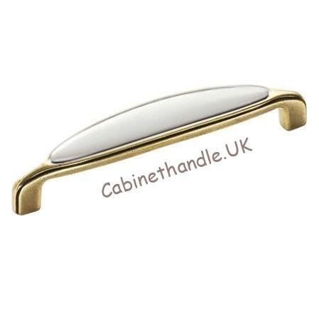 old gold ceramic cupboard handle