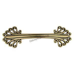 vintage drawer handle in old gold color