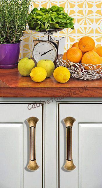 old gold kitchen door pulls