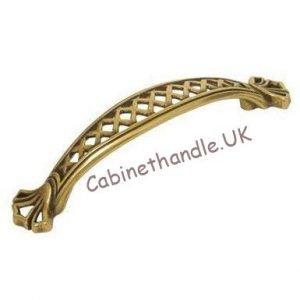 vintage gold cupboard handle