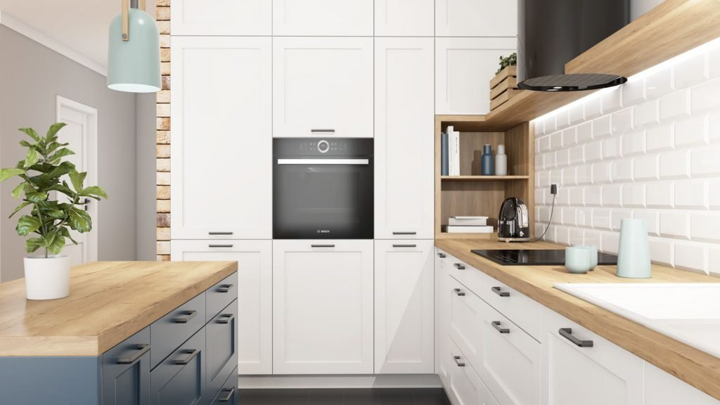 white kitchen cabinets handles