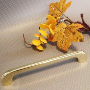 gold kitchen drawer handle 128 mm