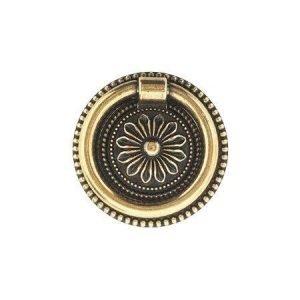 brass ring pull brass old gold