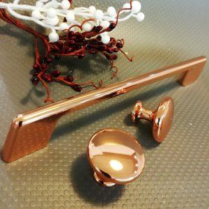 copper kitchen door handles