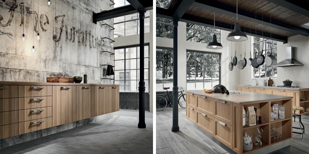 industrial handles in loft interiors