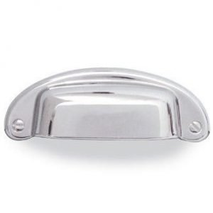 polished chrome cup handle