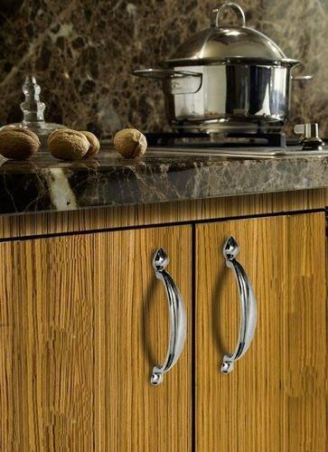 polished chrome cupboard handles