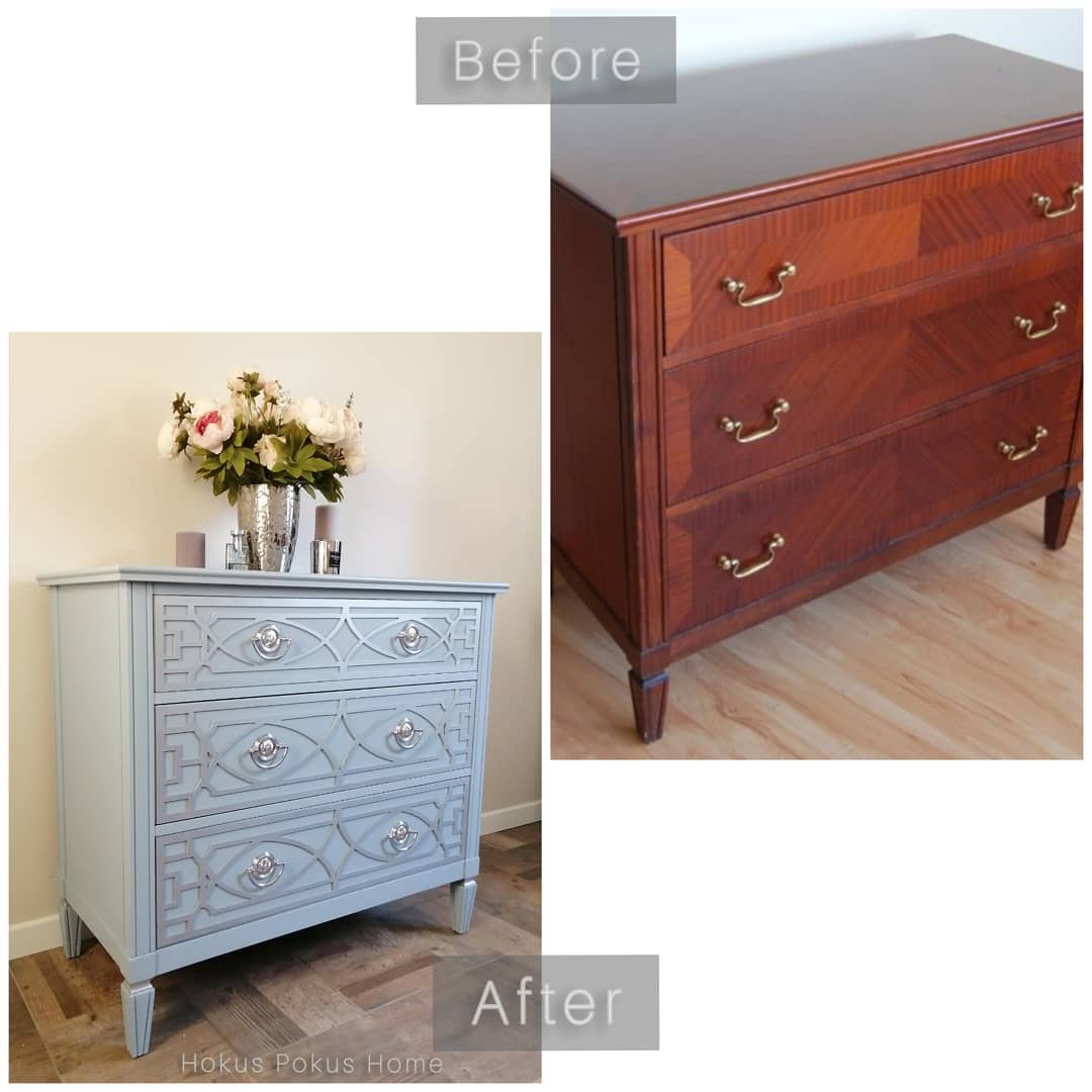 chest of drawers with chrome drawer handles