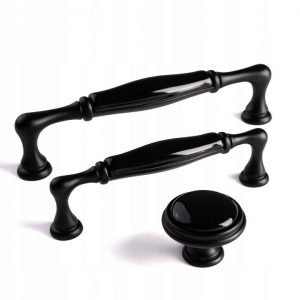 kitchen ceramic handles black