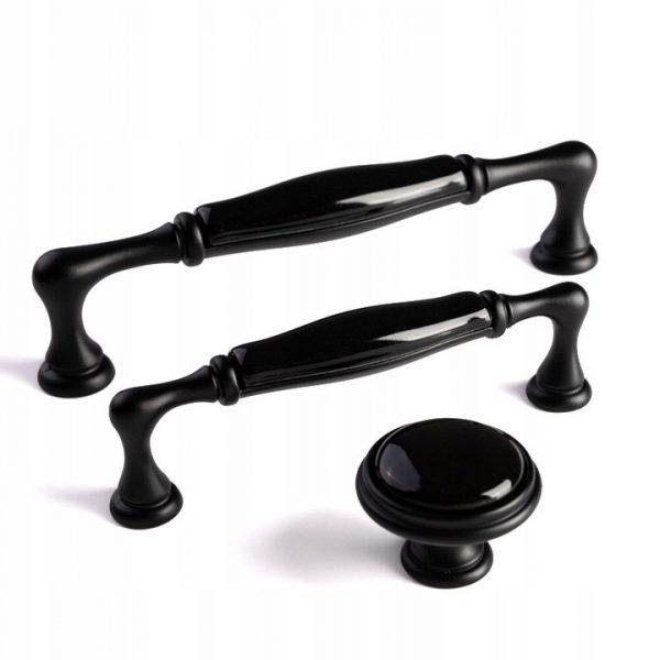 black ceramic kitchen handles giusti Italy