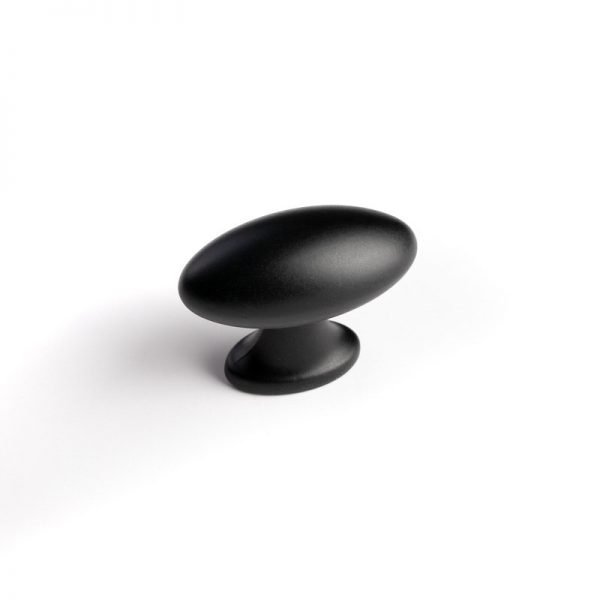 black oval kitchen cupboard knob